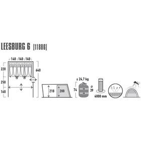 High Peak Leesburg 6 - Tiendas de campaña - gris